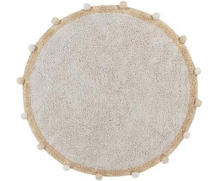 Runder Teppich Bubbly, handgefertigt