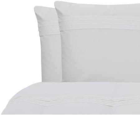 Parure de lit réversible en percale plissé Felicie