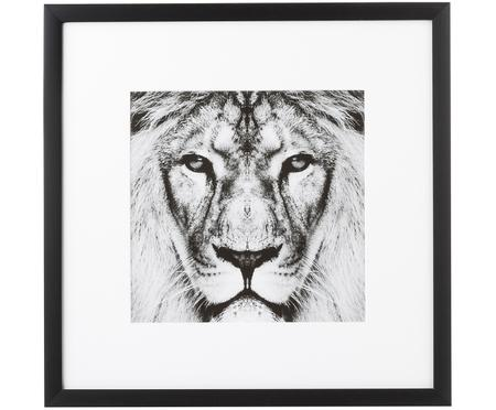 Ingelijste digitale print Lion Close Up