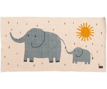 Tappeto in cotone con elefanti Elephant