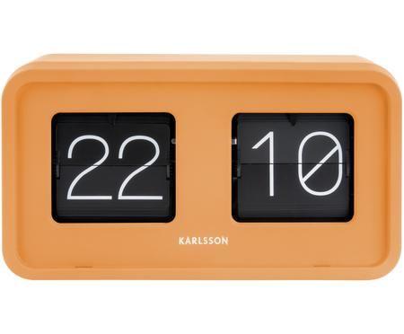 Horloge rétro orange à chiffres basculants Bold