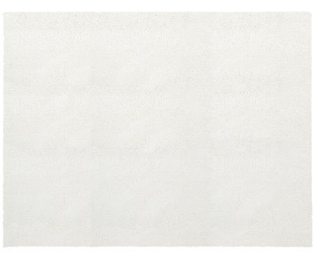 Pluizig hoogpolig vloerkleed Leighton in crèmekleur