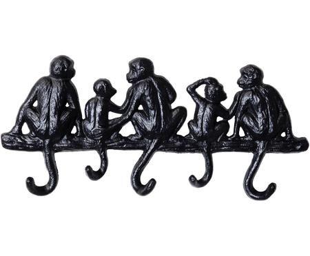 Kleine wandkapstok Monkey in zwart