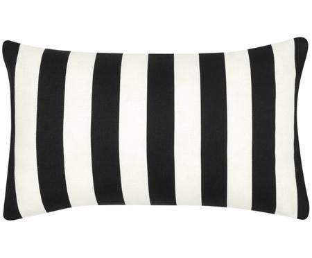 Housse de coussin à jeu de rayures noir et blanc Timon