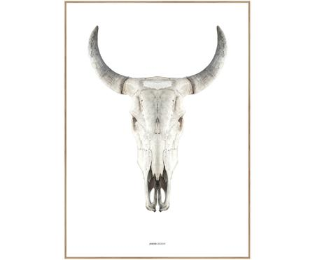 Gerahmter Digitaldruck Cow Skull