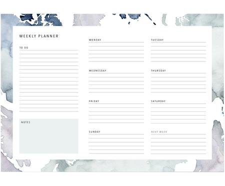 Weekplanner Pastel Stains