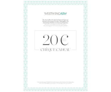 Chèque cadeau à imprimer 20 €