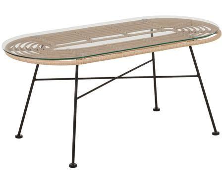 Table basse avec plateau en verer Sola