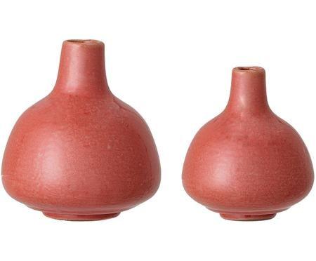 Ensemble de vases rouges Malina, 2 élém.