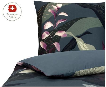 Baumwollsatin-Bettdeckenbezug Flora