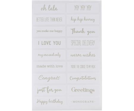 Set adesivi Quotes, 108 pz.