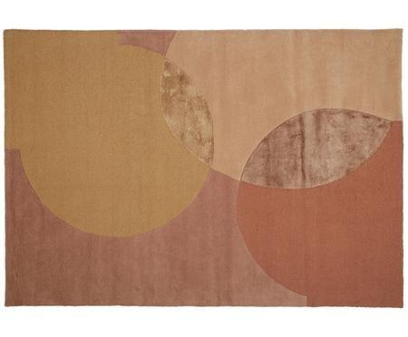Handgetufteter Designteppich Caldera aus Wolle
