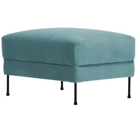 Sgabello da divano in velluto Fluente