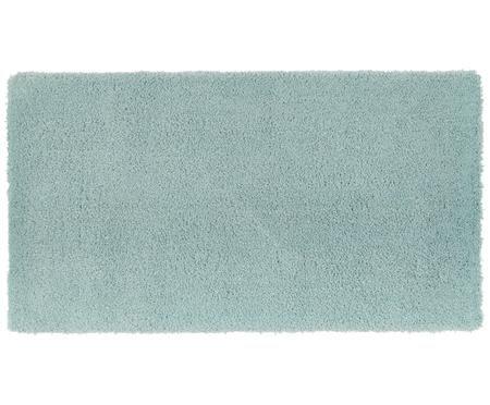 Pluizig hoogpolig vloerkleed Leighton in mintgroen