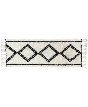 Tapis de couloir en laine style bohème Talana
