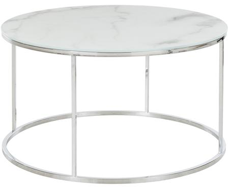 Table basse en verre marbré Athena