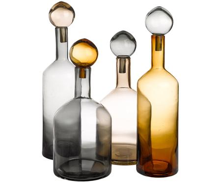 Set de botellas decorativas Chic, 4 pzas.