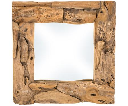 Specchio con cornice in teak Noah