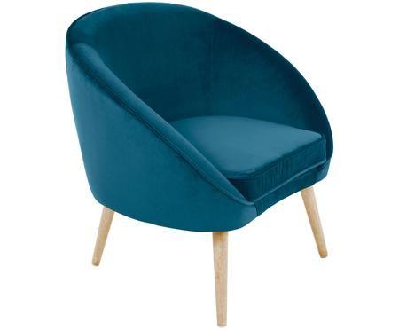 Fotel z aksamitu Safir