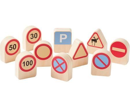 Verkehrszeichen-Set Aiden, 10-tlg.