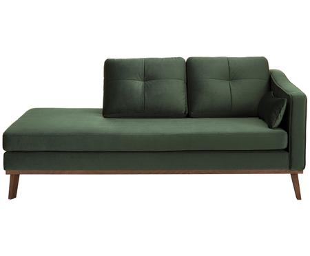 Chaise-longue in velluto Alva
