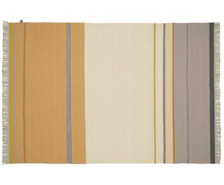 Ręcznie tkany dywan z wełny z frędzlami Metallum