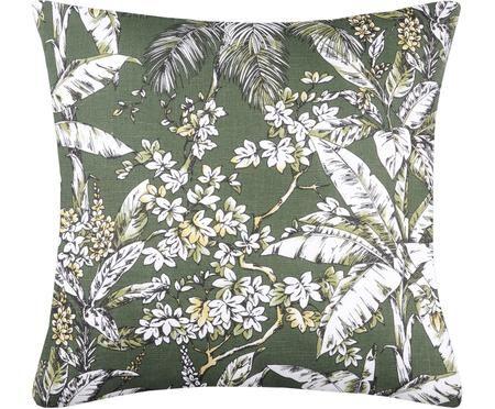 Kissen Barbade mit floralem Muster, mit Inlett
