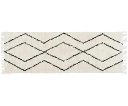 Ručne tkaný bavlnený koberec so vzorom Bina
