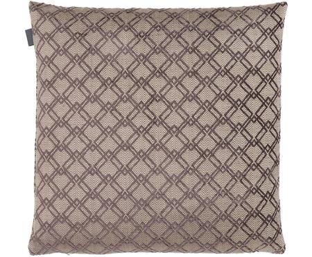 Viscose kussenhoes Grafty met verhoogd glanzend patroon