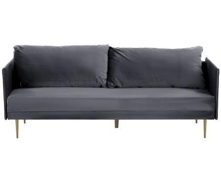 Sofa rozkładana z aksamitu Lauren (3-osobowa)