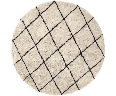 Okrągły ręcznie tuftowany dywan Naima