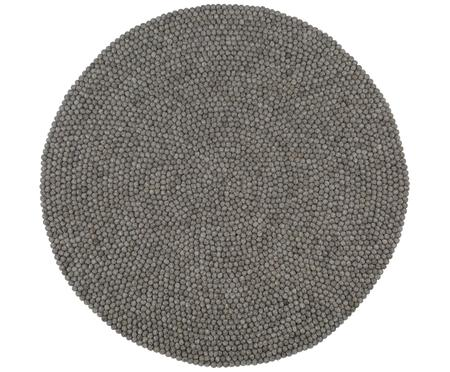 Tappeto rotondo in lana cucito a mano Dot