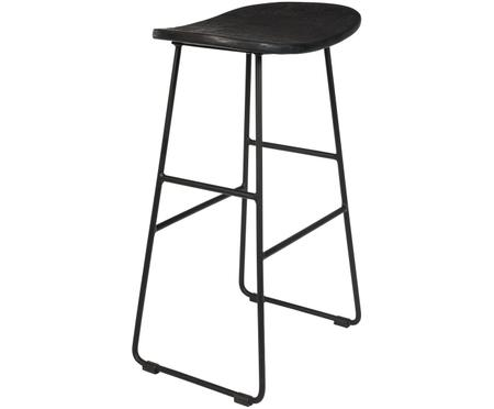 Tabouret de comptoir en teck Tangle