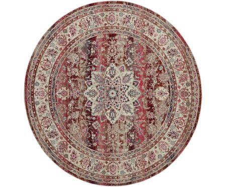 Okrúhly koberec s nízkym vlasom Kashan Age