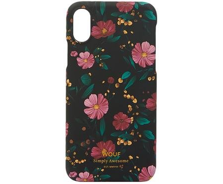 Etui na iPhone X Black Flowers