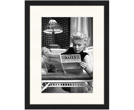 Ingelijste digitale print Marilyn Monroe Reading