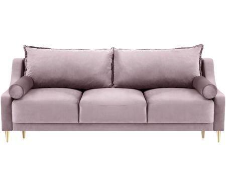 Sofa rozkładana z aksamitu Lea (3-osobowa)