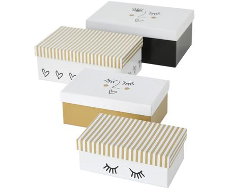 Set de cajas para regalo Faces, 4 pzas.