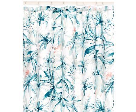 Duschvorhang Foglia mit tropischem Muster