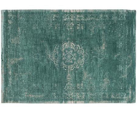 Vintage chenille vloerkleed Medaillon