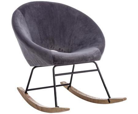 Fluwelen schommelstoel Annika