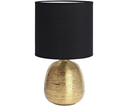 Tischleuchte Oscar in Schwarz-Gold