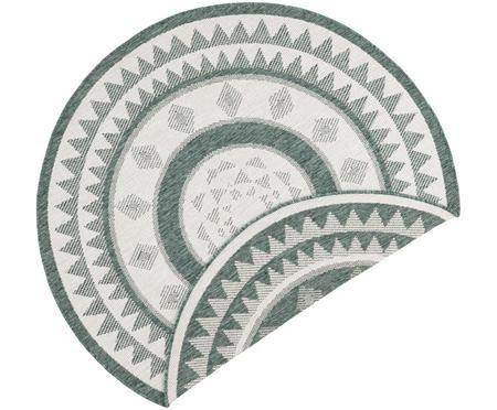 Okrągły dwustronny dywan wewnętrzny/zewnętrzny Jamaica