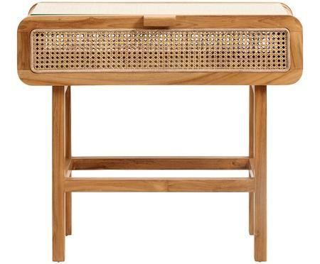 Konzolový stolík Aising s ratanovým výpletom
