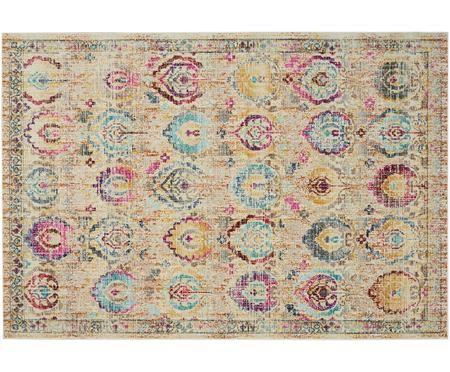 Niederflor-Teppich Kashan Vintage