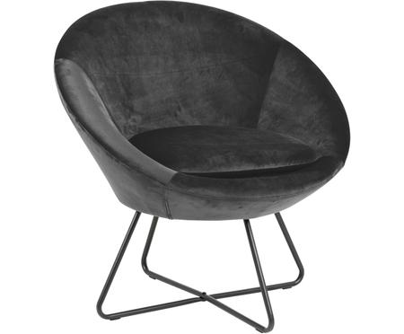 Large fauteuil en velours Center