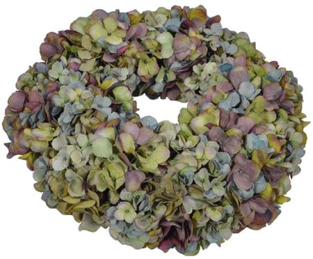 Dekoratívny kvetinový veniec Malwina (hortenzia)