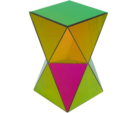 Spiegel-Beistelltisch Triangle Rainbow