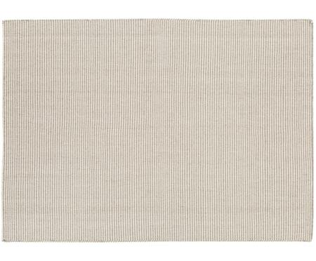 Tappeto in lana Ajo grigio-crema, tessuto a mano