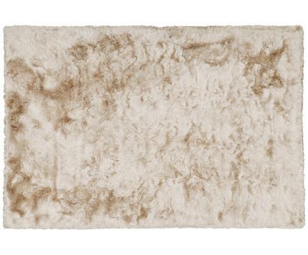Glänzender Hochflor-Teppich Jimmy in Elfenbein